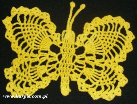 Motylki szydełkowe